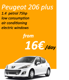 rent a car craiova peugeot 206 plus without deposit